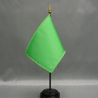 "NMF-46 MINTGREEN Nylon 4"" x 6"" Mounted Solid Color Stick Flag - Mint Green-0"