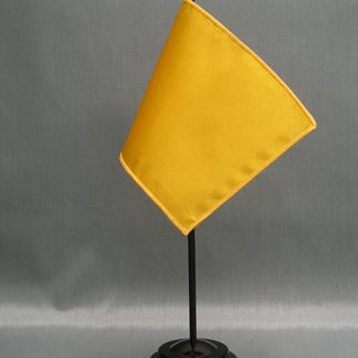 "NMF-46 MUSTARD Nylon 4"" x 6"" Mounted Solid Color Stick Flag - Mustard-0"