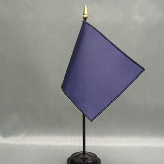 "NMF-46 OGBLUE Nylon 4"" x 6"" Mounted Solid Color Stick Flag - OG Blue-0"