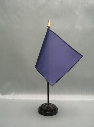 """NMF-46 OGBLUE Nylon 4"""" x 6"""" Mounted Solid Color Stick Flag - OG Blue-0"""
