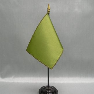 "NMF-46 OLIVE Nylon 4"" x 6"" Mounted Solid Color Stick Flag - Olive-0"