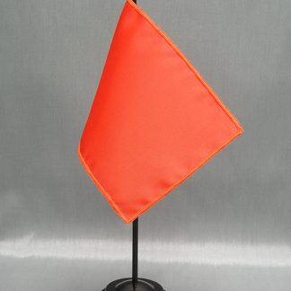 "NMF-46 ORANGE Nylon 4"" x 6"" Mounted Solid Color Stick Flag - Orange-0"