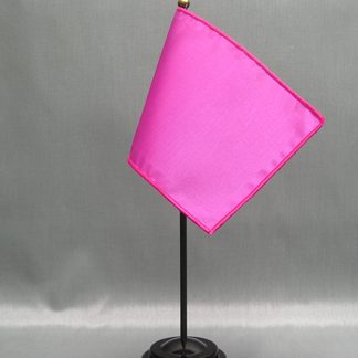 "NMF-46 ORCHID Nylon 4"" x 6"" Mounted Solid Color Stick Flag - Orchid-0"
