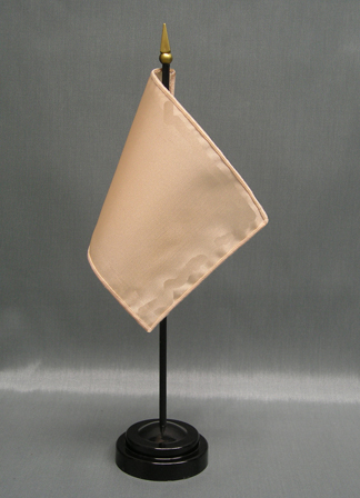 "NMF-46 PEACH Nylon 4"" x 6"" Mounted Solid Color Stick Flag - Peach-0"