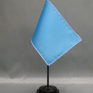 "NMF-46 PROCESSBLU Nylon 4"" x 6"" Mounted Solid Color Stick Flag - Process Blue-0"