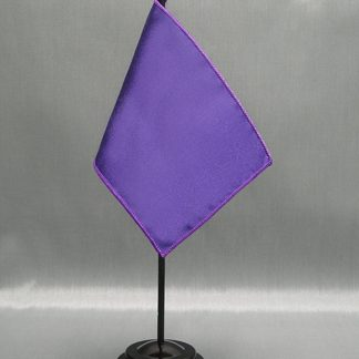 "NMF-46 PURPLE Nylon 4"" x 6"" Mounted Solid Color Stick Flag - Purple-0"