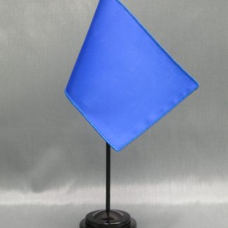 "NMF-46 ROYALBLUE Nylon 4"" x 6"" Mounted Solid Color Stick Flag - Royal Blue-0"
