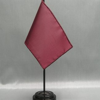 "NMF-46 RUBY Nylon 4"" x 6"" Mounted Solid Color Stick Flag - Ruby-0"