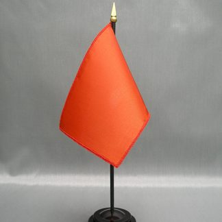 "NMF-46 RUST - Nylon 4"" x 6"" Mounted Solid Color Stick Flag - Rust-0"