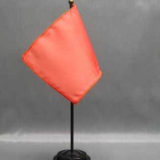 "NMF-46 SALMON - Nylon 4"" x 6"" Mounted Solid Color Stick Flag - Salmon-0"