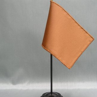 "NMF-46 SANDALWOOD Nylon 4"" x 6"" Mounted Solid Color Stick Flag - Sandalwood-0"