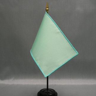 "NMF-46 SEAFOAM Nylon 4"" x 6"" Mounted Solid Color Stick Flag - Seafoam-0"
