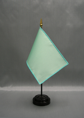 "NMF-46 SEAFOAM Nylon 4"" x 6"" Mounted Solid Color Stick Flag - Seafoam-0"