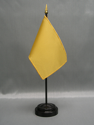 "NMF-46 TAN Nylon 4"" x 6"" Mounted Solid Color Stick Flag - Tan-0"