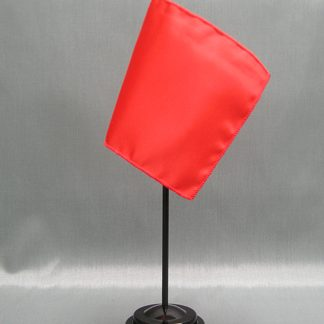 "NMF-46 WARMRED Nylon 4"" x 6"" Mounted Solid Color Stick Flag - Warm Red-0"