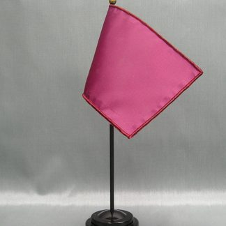 "NMF-46 WINE BERRY Nylon 4"" x 6"" Mounted Solid Color Stick Flag - Wine Berry-0"