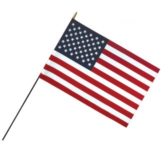 """RSF-2436 24"""" x 36"""" Deluxe Polyester U.S. Stick Flag On 3/16"""" Diameter Black Dowel-0"""