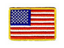 "USP-2GOLD 2 x 3"" Gold Border Flag With Heat Seal Backing -0"