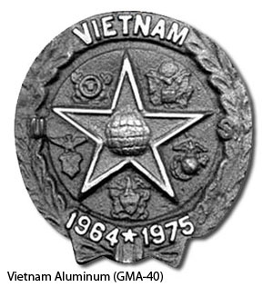 GMA-40 Grave Marker - Vietnam Aluminum-0