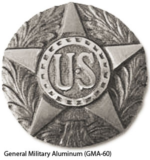 GMA-60 Grave Marker - General Military Aluminum-0
