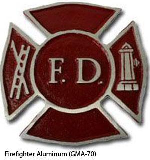 GMA-70 Grave Marker - Firefighter Aluminum-0