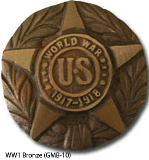 GMB-10 Grave Marker - World War I Bronze-0