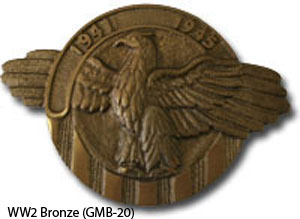 GMB-20 Grave Marker - World War I I Bronze-0
