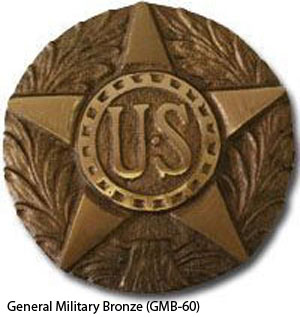 GMB-60 Grave Marker - General Military Bronze-0