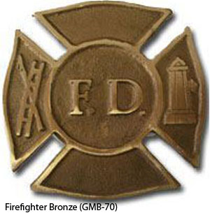 GMB-70 Grave Marker - Firefighter Bronze-0