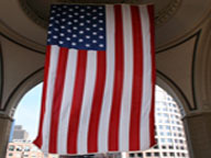 NFB-185 25' X 15' Vertical U.S. Flag Banner-11554