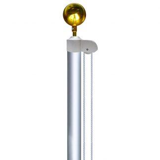 AFP-20 20' Silver Aluminum Pole - Without Flag-0