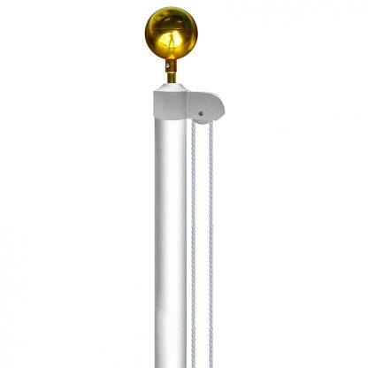 AFP-20-WHITE 20' White Aluminum Flagpole-0