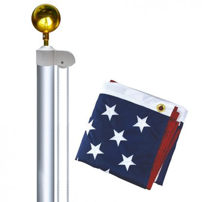 AFP-20F 20' Aluminum Sectional Flagpole with Flag-0