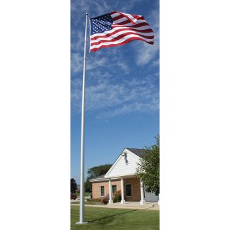 AIF-135-SATIN 35' Architectural Pole with Internal Halyard and Satin Finish-0
