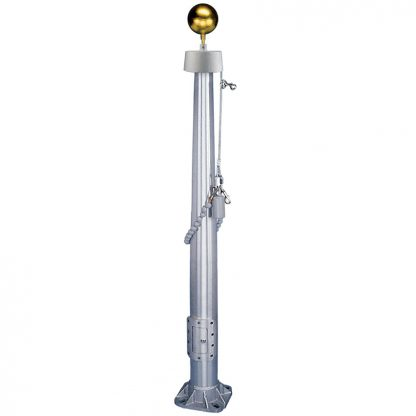 CIF-140-SATIN 40' Vanguard Commercial Pole with Satin Finish and Internal Halyard-43598