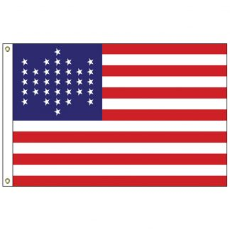HF-431 U.S. Civil War - 34 Star 3' x 5' Outdoor Nylon Flag -0