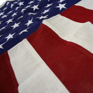 CT-125 5' X 9.5' Cotton U.S. Flag With Heading And Grommets-0