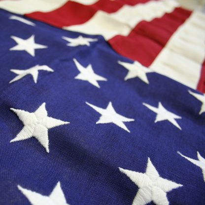 CT-125 5' X 9.5' Cotton U.S. Flag With Heading And Grommets-42783