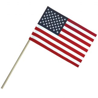 "EC-46 4'' X 6"" Economy Cotton U.S. Stick Flag On 10"" Dowel-0"