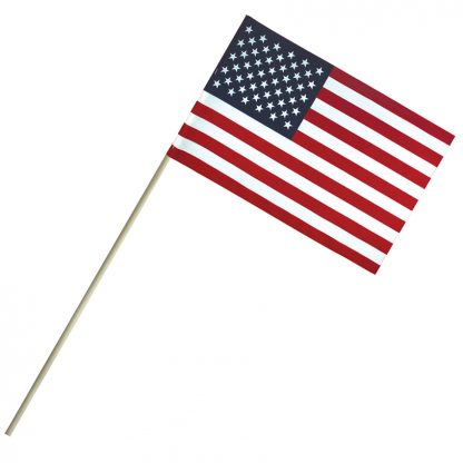 "EC-69 6'' X 9"" Economy Cotton U.S. Stick Flag On 18"" Dowel-0"