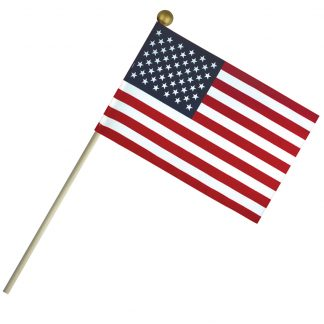 "ECB-46 4'' X 6"" Economy Cotton U.S. Stick Flag On 10"" Wooden Dowel-0"