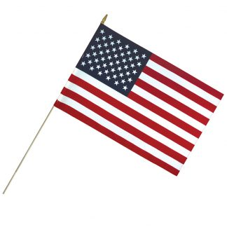 "LC-2436 24"" x 36"" Lightweight Cotton US Stick Flag with Spear Top on a 50"" Dowel-0"
