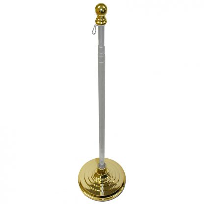 MSO-899 Indoor & Parade Telescopic Pole and Base Kit - 8 Ft-0