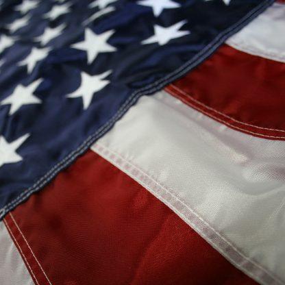 NPF-105 3' x 5' U.S. Indoor Nylon Flag with Pole Hem and Fringe-42932
