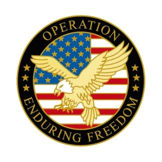 """OEF-1 Enduring Freedom Pin (1"""" Diameter)-0"""