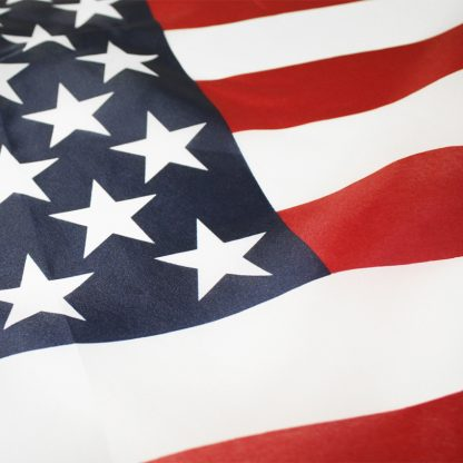 PF-23BK 2' X 3' American Flag 68 Denier Printed Polyester With Heading And Grommets **Closeout Items**-0