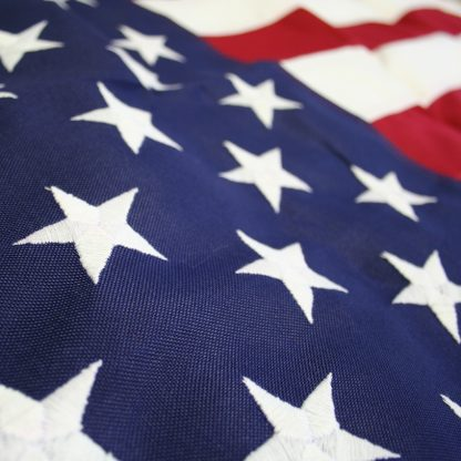 PF-115 5' X 8' 2-ply Polyester U.S. Flag with Heading and Grommets-42992