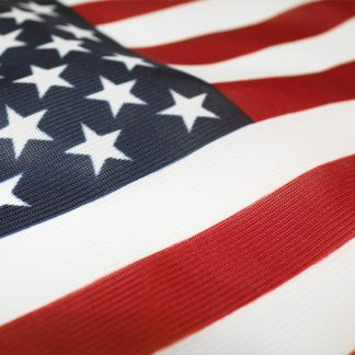 """PF-118K 12"""" X 18"""" American Flag Printed Knitted Polyester With Heading And Grommets-0"""