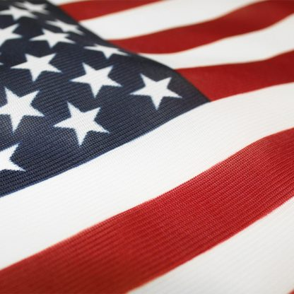 PF-298K 2' X 3' American Flag Printed Knitted Polyester With Heading And Grommets-0