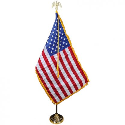 PS-105 7' US Indoor Parade Set with 3' x 5' Nylon Flag-0